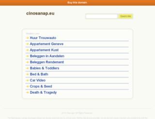 cinosanap.eu screenshot