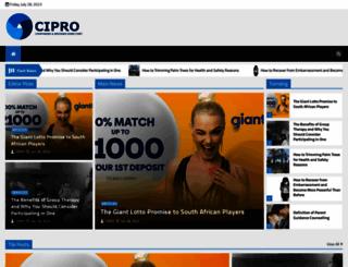 cipro.co.za screenshot
