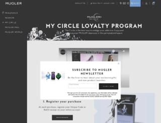 circle.mugler.com screenshot