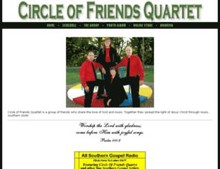 circleoffriendsquartet.com screenshot