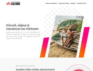 circuitvoyagevietnam.com screenshot