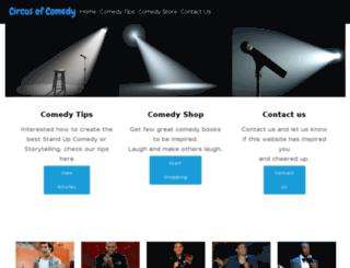 circusofcomedy.com screenshot