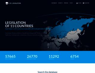cis-legislation.com screenshot