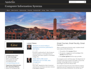 cis.appstate.edu screenshot