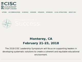 ciscsymposium.sccoe.org screenshot