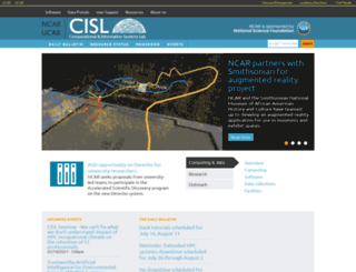 cisl.ucar.edu screenshot