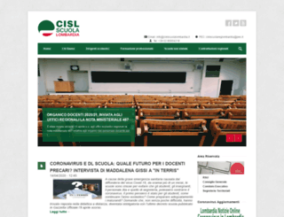 cislscuolalombardia.it screenshot