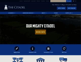 citadel.edu screenshot