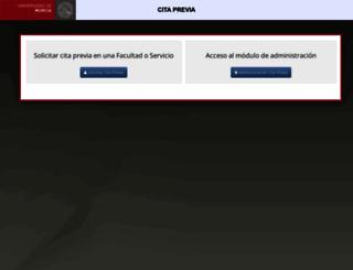 citaprevia.um.es screenshot