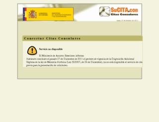 citapreviaconsular.maec.es screenshot
