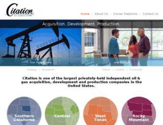 citationoilandgas.com screenshot