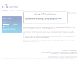 citi.netxselect.com screenshot