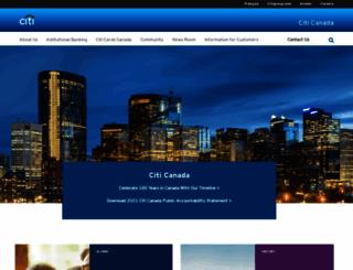 citibank.ca screenshot