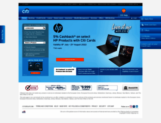 citibank.co.in screenshot