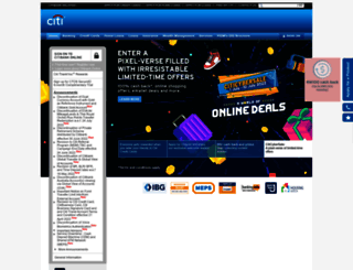 citibank.com.my screenshot
