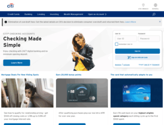citibank.com screenshot