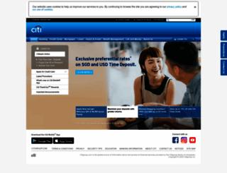 citibank.com.sg screenshot
