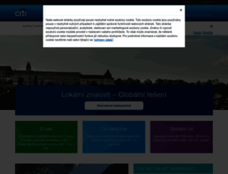 citibank.cz screenshot