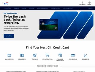 citicards.com screenshot
