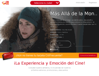 citicinemas.mx screenshot