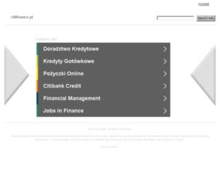 citifinance.pl screenshot