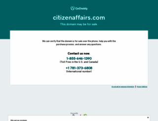 citizenaffairs.com screenshot