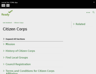 citizencorps.gov screenshot