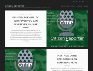 citizenreporter.org screenshot