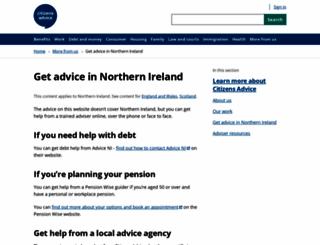 citizensadvice.co.uk screenshot