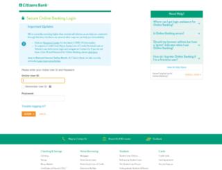 citizensbankonline.com screenshot