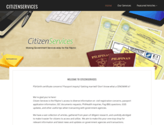 citizenservices.com.ph screenshot