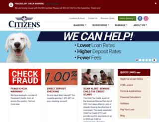 citizensfcu.com screenshot