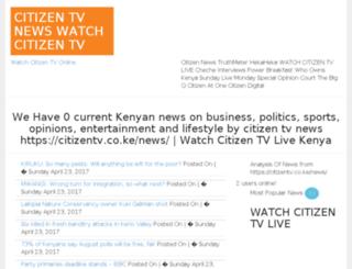 citizentvnews.bizyangu.com screenshot