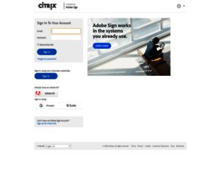 citrix.echosign.com screenshot