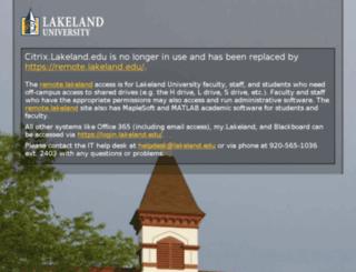 citrix.lakeland.edu screenshot