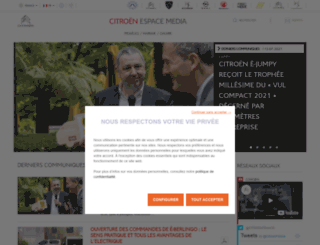 citroen-presse.com screenshot