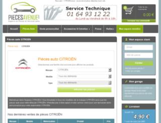 citroen.piecesavenue.com screenshot