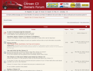 citroenc3owners.com screenshot