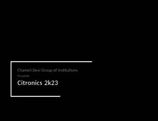 citronics.cdgi.edu.in screenshot