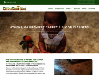 citruscarpetcleaningathens.com screenshot