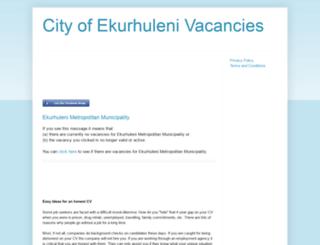city-of-ekurhuleni-vacancies.blogspot.com screenshot