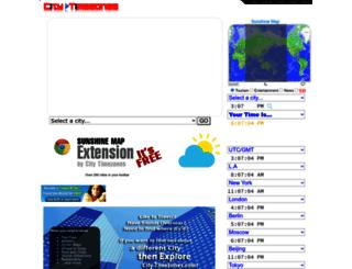 city-timezones.com screenshot