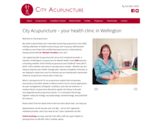 cityacupuncture.co.nz screenshot