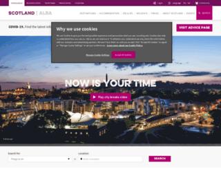 citybreaks.visitscotland.com screenshot