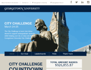 citychallenge.georgetown.edu screenshot