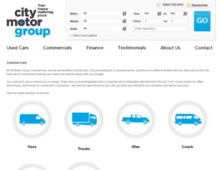 citycommercialvehicles.citymotorgroup.co.nz screenshot