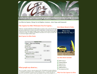 citycypruscarhire.com screenshot
