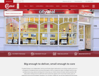 citydealestates.co.uk screenshot