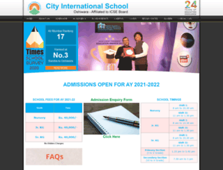 cityinternationalschool.edu.in screenshot