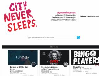 cityneversleeps.wantickets.com screenshot